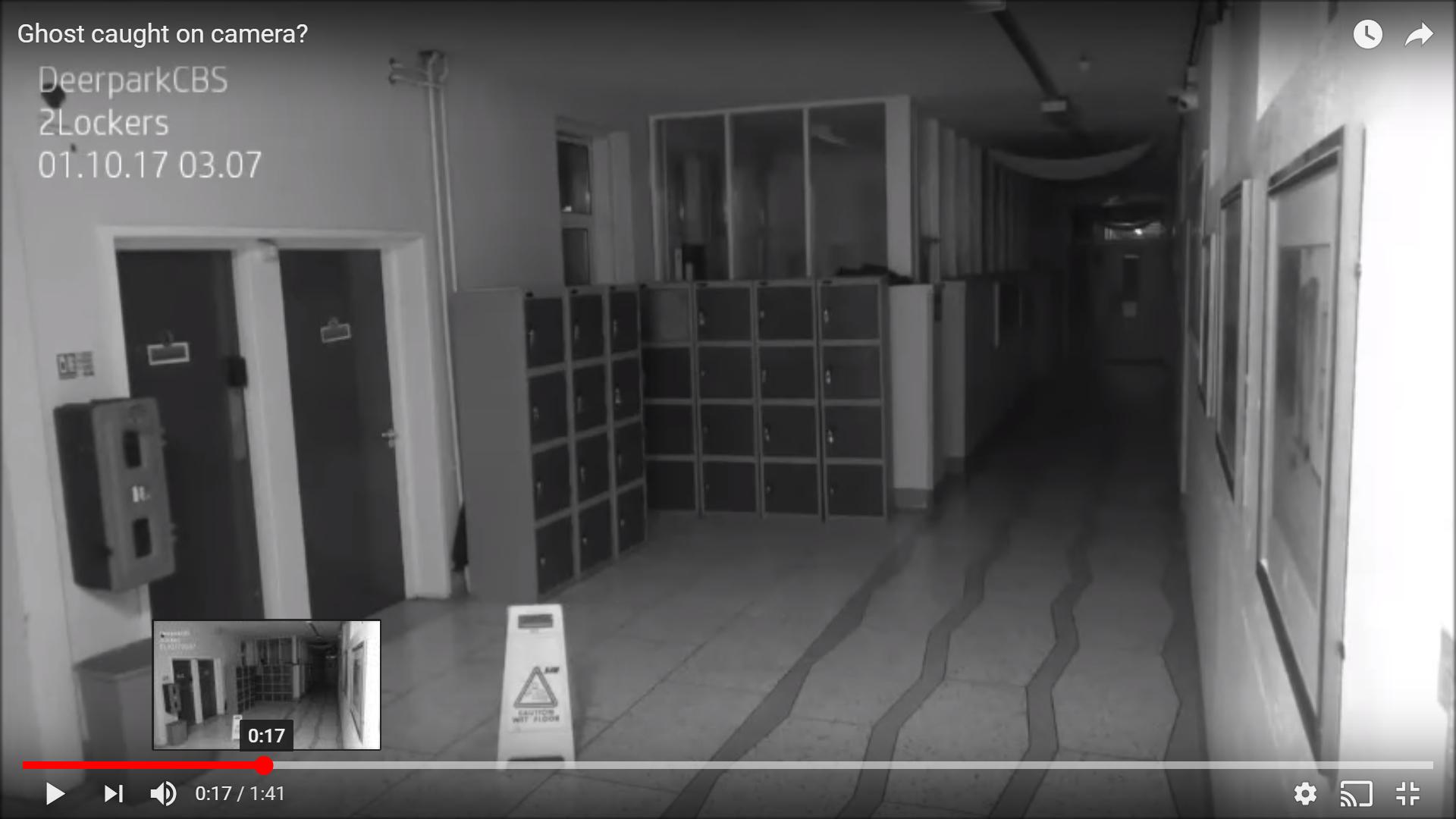 アイルランドの学校で撮影されたポルターガイストの心霊動画