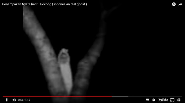 インドネシアの恐怖映像